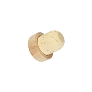 Bouchon à tête en bois brut