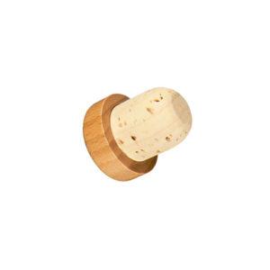 Bouchon à tête en bois verni